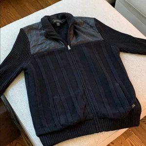 Men's INC Black Sweater Jacket